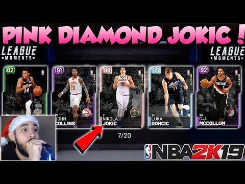 NBA 2K19 PINK DIAMOND JOKIC AND DIAMOND LUKA DONCIC PACK OPENING IN MYTEAM thumbnail