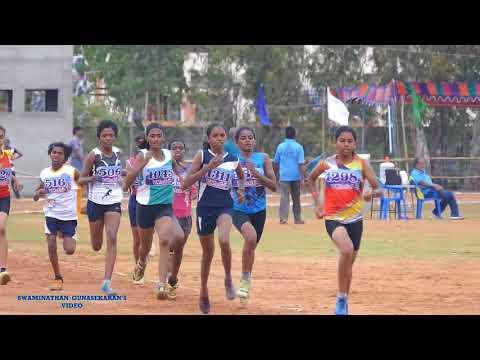 GIRLS U14  600m  RUN FINAL. 31st TAMILNADU  STATE  JUNIOR  ATHLETICS  CHAMPIONSHIPS-2017.