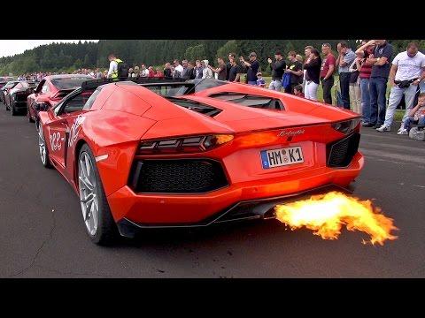 CRAZY Lamborghini Aventador LP700 Flames & Accelerations!