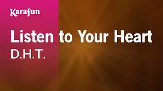 Karaoke Listen to Your Heart - D.H.T. *