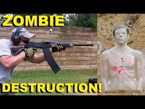 Zombie Destruction! Bleeding Zombie Target by Zombie Industries