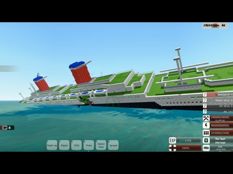 Sinking SS United States! From the Depths (Minecraft design)