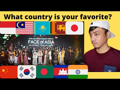 23 Asian Countries Traditional Clothing Fashion Show Reaction