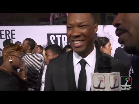 STRAIGHT OUTTA COMPTON PREMIERE: Corey Hawkins, the Game and Alexandra Shipp
