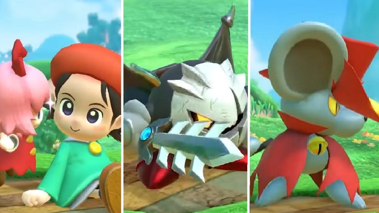 Kirby Star Allies - Adeleine & Ribbon, Dark Meta Knight & Daroach (New Dream Friends + New Levels)
