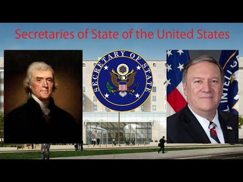Secretaries of State of the United States (1790-present)