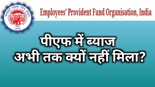 why pf interest not credited 2018-19?