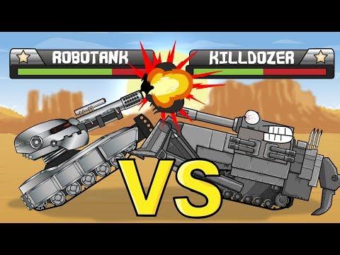 """Tank Tournament Robotank VS Killdozer"" Cartoons about tanks"