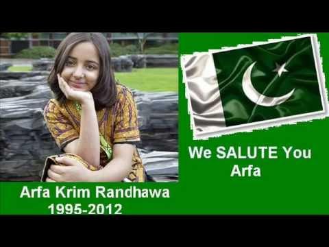 Arfa Karim Randhawa (1995-2012) leaves her Message,her Dream, her Aim