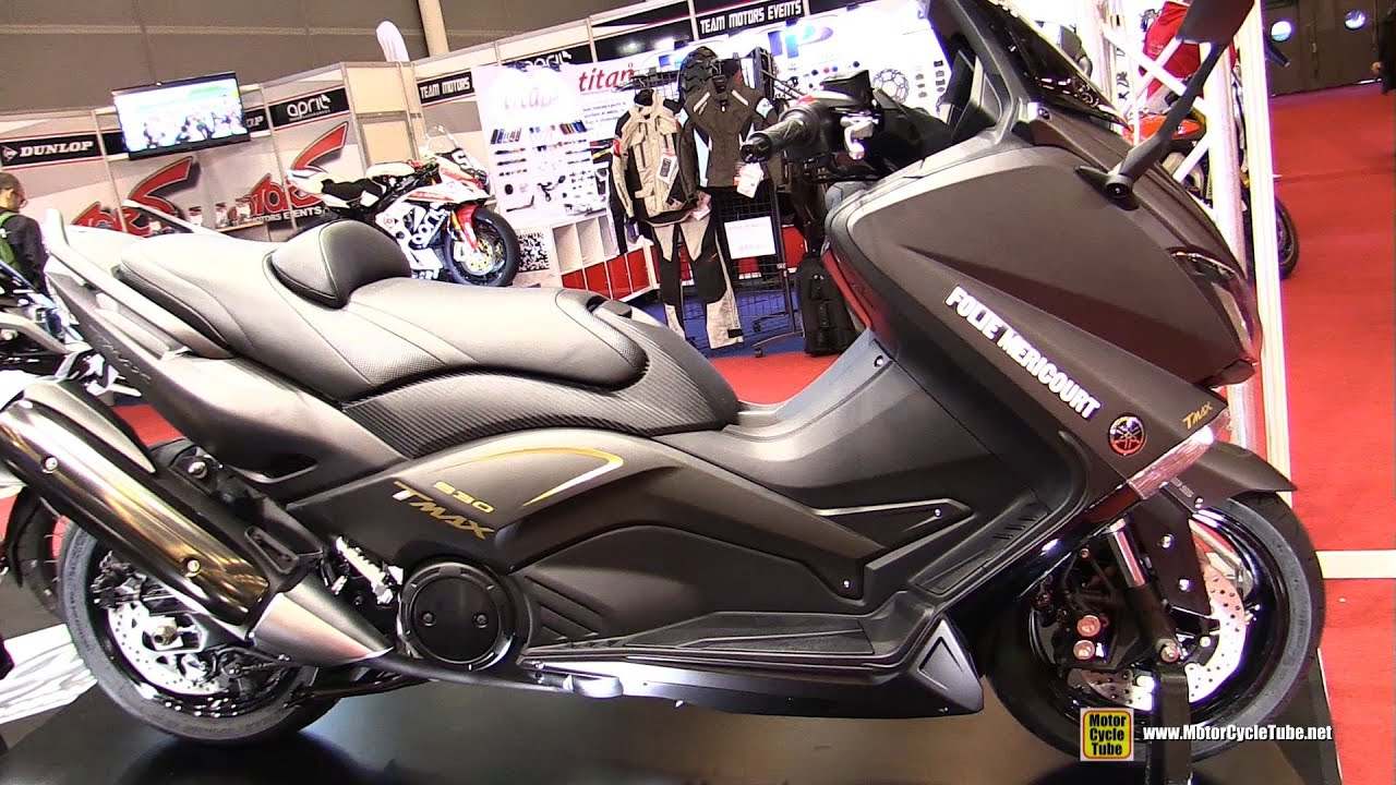 2016 yamaha tmax 530 customized by ermax walkaround 2015 salon de la moto paris youtube. Black Bedroom Furniture Sets. Home Design Ideas