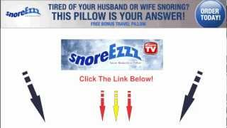 SnoreEzzz - AntiSnoring Pillow - Sleep On Back And Side - Affordable Anti Snoring Pillow