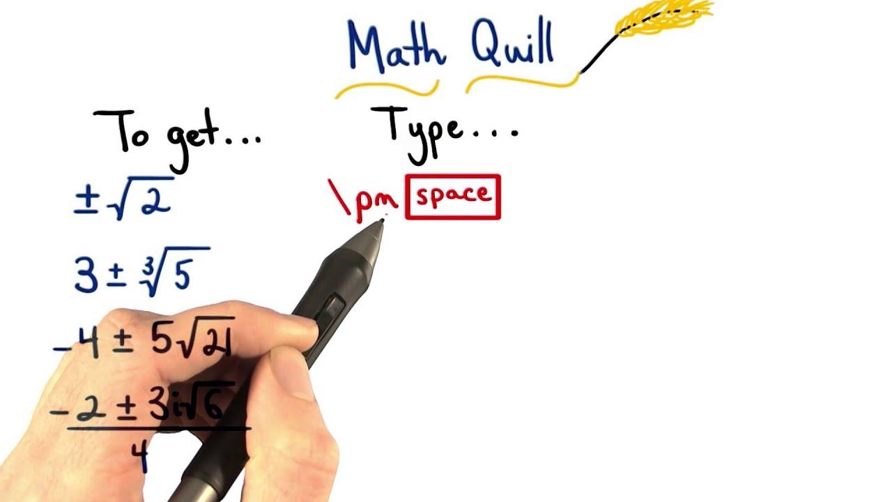Math Quill Plus Of Minus Sign Visualizing Algebra Youtube