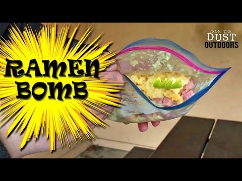 Create A BOMB!   Ramen Bomb   Cheap Meal For Backpacking, Hiking, Camping