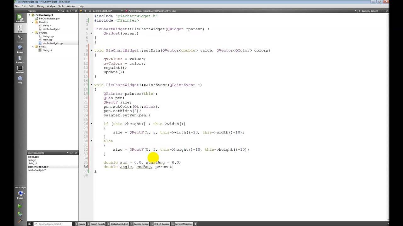 Qt c 011 custom pie chart widget cont youtube qt c 011 custom pie chart widget cont geenschuldenfo Choice Image