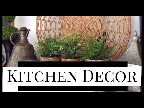 NEW KITCHEN DECOR & DIY SHUTTERS USING HOBBY LOBBY CLEARANCE FINDS!