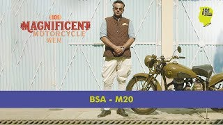 A Fine Vintage: The 1941 BSA M20 | 101 Magnificent Motorcycle Men | Unique Stories From India