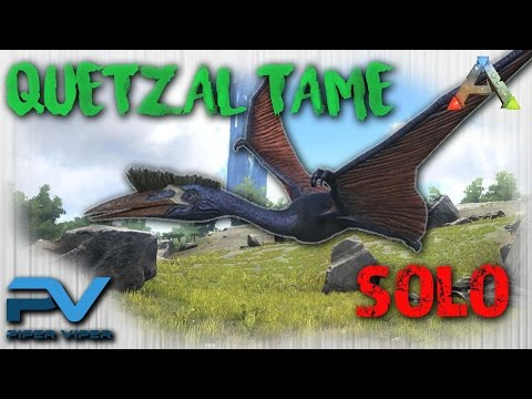 ARK: THE CENTER | SOLO TAMING A QUETZAL | FLYING TRAP!