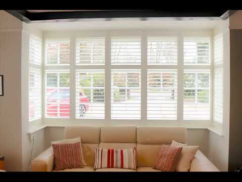 Wooden Shutter Blinds For Bay Windows