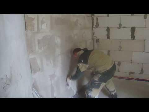 Декоративная штукатурка стен своими руками видео без маяков