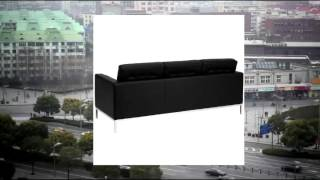 Flash Furniture Zb-lacey-831-2-sofa-bk-gg Hercules Lacey Series Contemporary Black Leather Sofa With