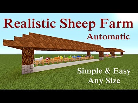 Minecraft Tutorial Realistic Sheep Farm Quot Automatic