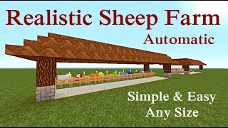 "Minecraft Tutorial : Realistic Sheep Farm ""Automatic"""