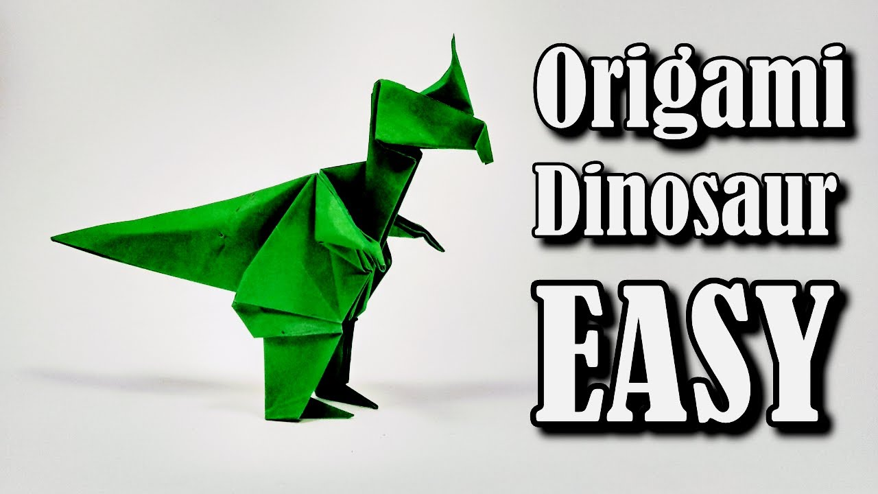 ORIGAMI DINOSAUR STEGOSAURUS | Paper Dinosaur - YouTube | 720x1280