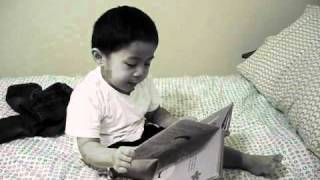 funny kid reading ONCE UPON A POTTY