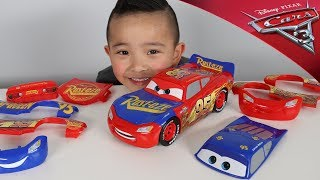 Change & Race Disney Cars 3 Toys Lightning McQueen Unboxing Fun With Ckn Toys thumbnail