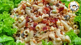 FILIPINO CHICKEN MACARONI SALAD (THE SECRET TO THE BEST TASTING CHICKEN MACARONI SALAD)