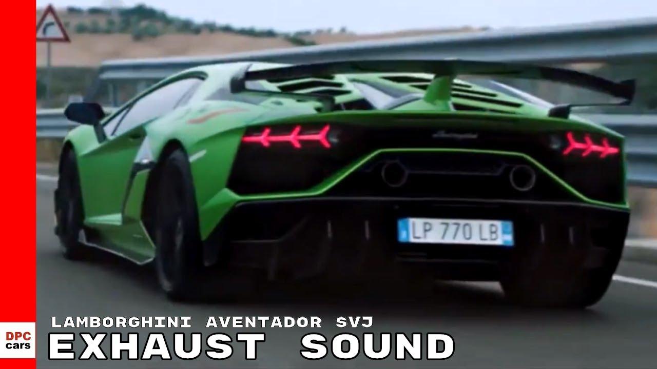 Lamborghini Aventador Svj Exhaust Sound Youtube