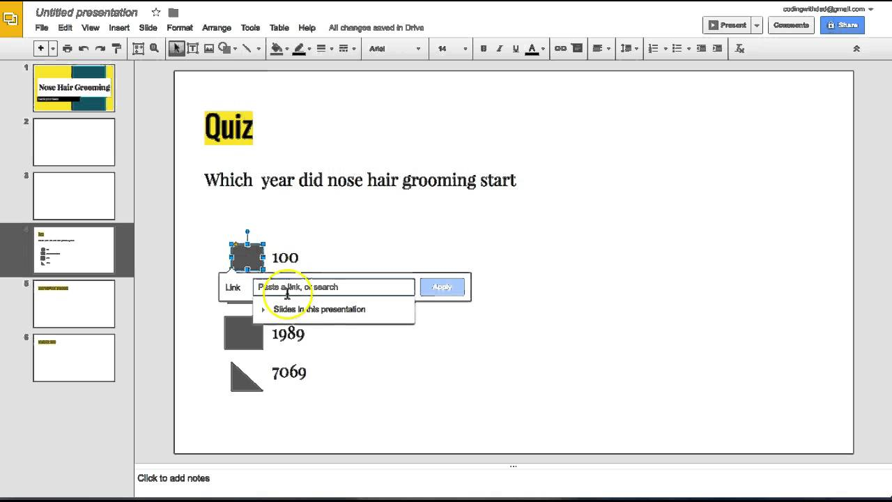 how to create a quiz in google slides for school. - youtube, Presentation templates