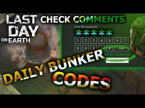 ☣️ DAILY BUNKER CODES (check comments ) 📟🔓 LAST DAY ON EARTH SURVIVAL 🎮🏕️