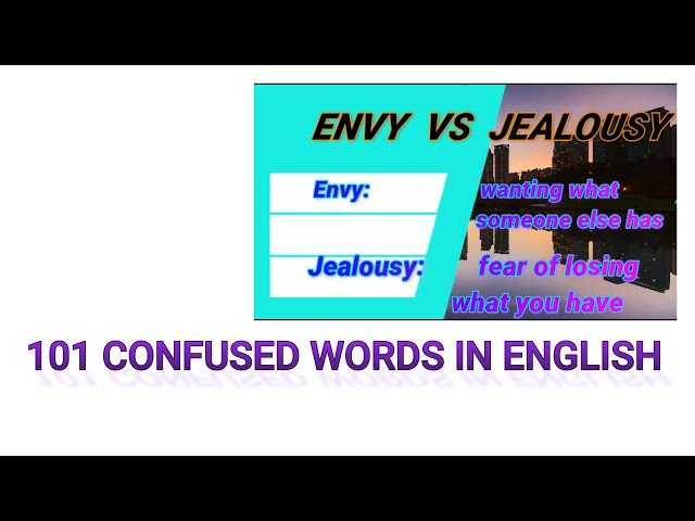 101 Commonly Confused Words in English