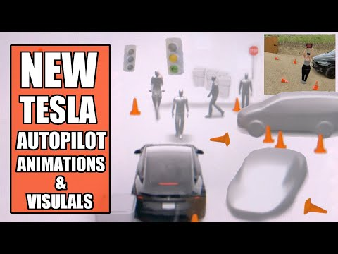 All NEW Tesla Animation & Visualizations Update - Software 2020.16.3.1