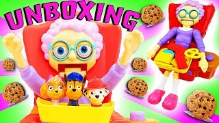 Greedy Granny Unboxing with Paw Patrol Skye, Marshall & Chase! Learn Colors, Numbers & Counting!