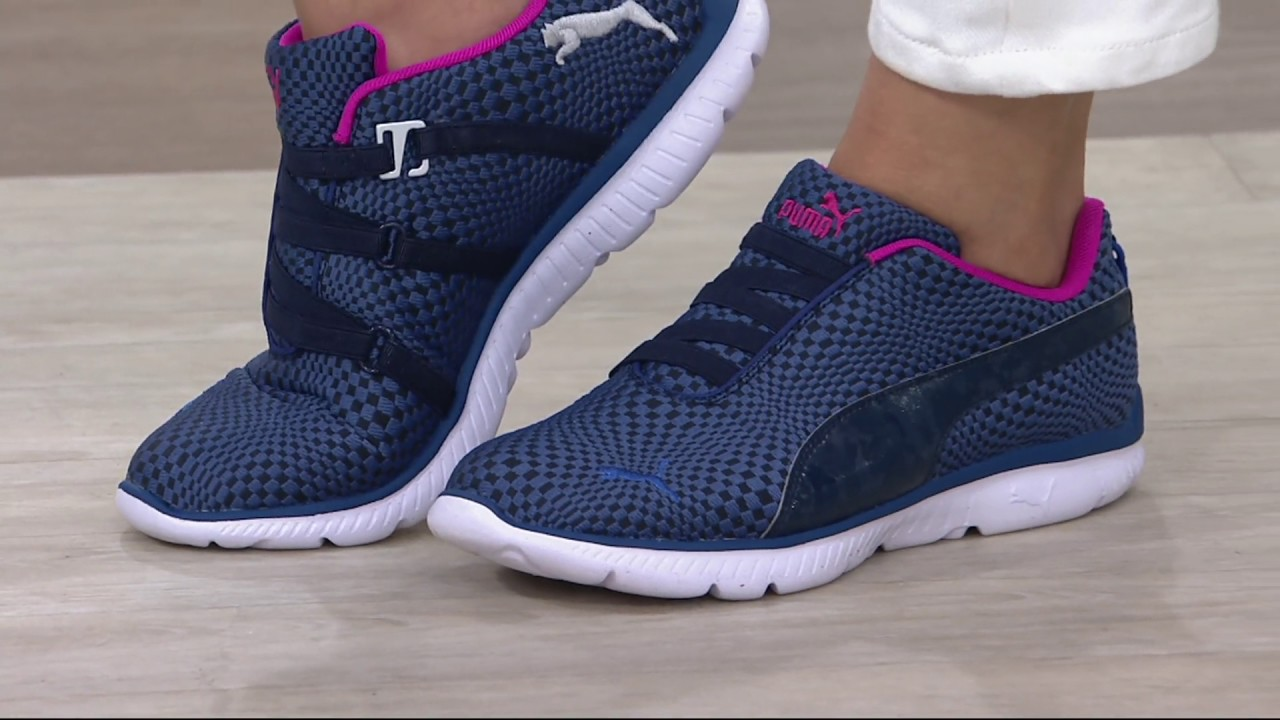 PUMA Mesh Slip-On Sneakers - FashIN Alt Illusion on QVC - YouTube 02d2da03f2