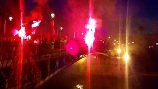 Taranto tifosi sul ponte girevole promozione lega