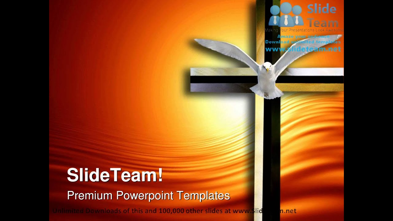 free church powerpoint templates - holy spirit cross religion powerpoint templates themes and