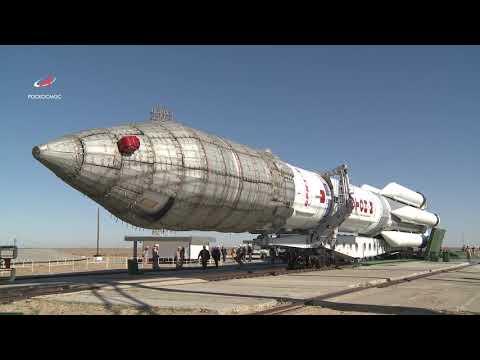 Вывоз РН «Протон-М» на стартовый комплекс