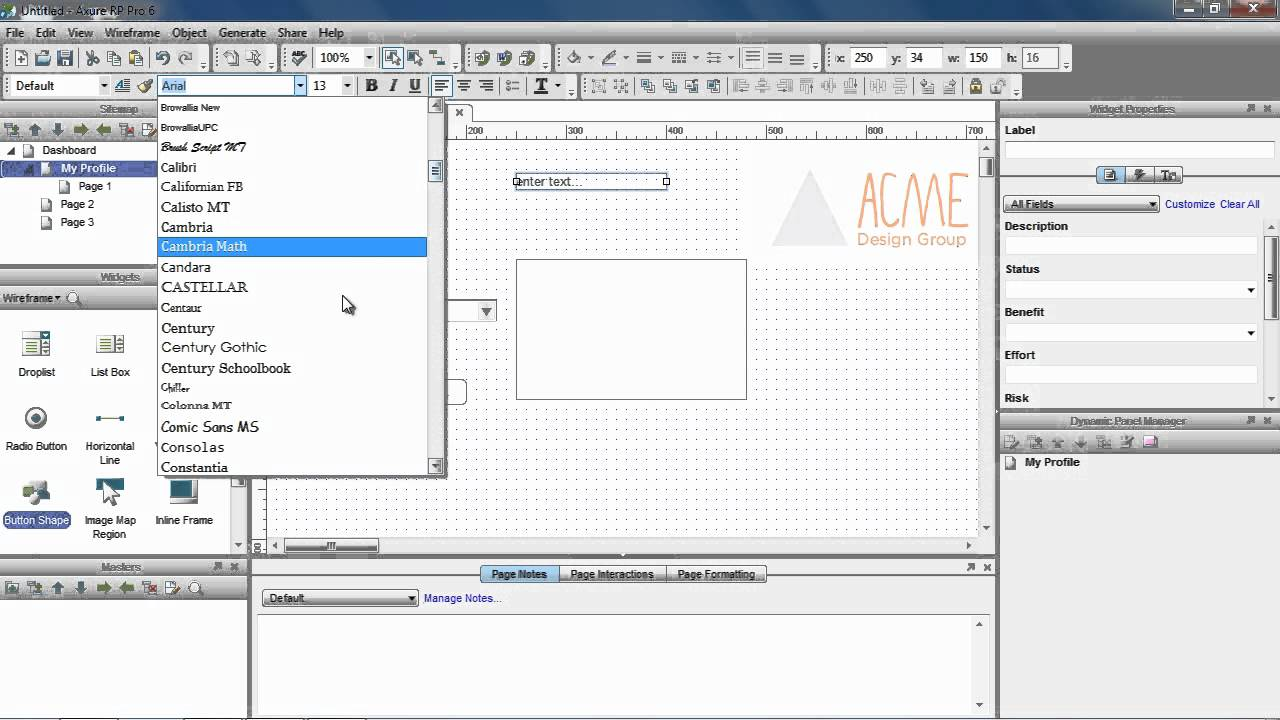 Create Wireframes in Axure - YouTube