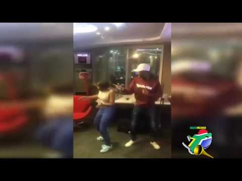 Mbali and Killer Kau dance to Tholukuthi Hey!!!