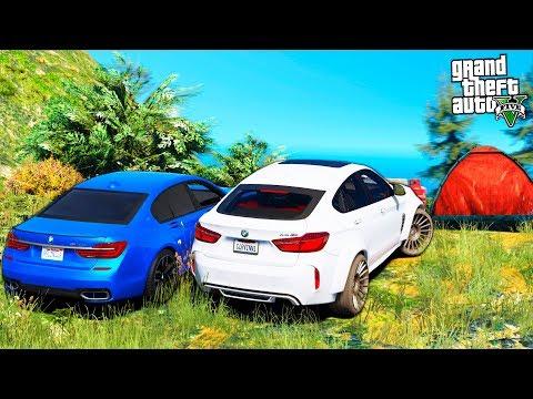 РЕАЛЬНАЯ ЖИЗНЬ В GTA 5 - ПОЕЗДКА С ДРУГОМ НА ПИКНИК! ПРОВЕРКА BMW 7 И BMW X6 НА ПРОХОДИМОСТЬ 🌊ВОТЕР