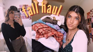 huge fall try on clothing haul- brandy melville, urban outfitters, free people
