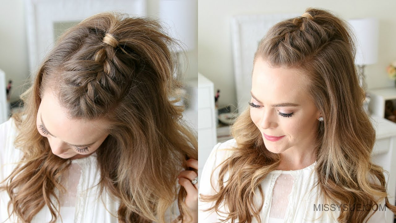 hair styles for wavy hair mohawk braid sue 2940