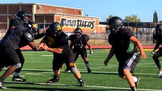 Antioch Panthers football practice  8 2 2018