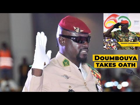 Colonel Mamadi Doumbouya sworn as the transitional leader of Guinea Conakry
