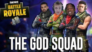 Squads with Ninja, Drake, Travis Scott and JuJu!! - Fortnite Battle Royale Gameplay thumbnail