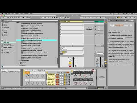 Ableton Worship Organs Pack- Worship Organ Patches for Ableton Live 9/10  Intro, Standard, or Suite — MainStage Patches and Templates from Sunday