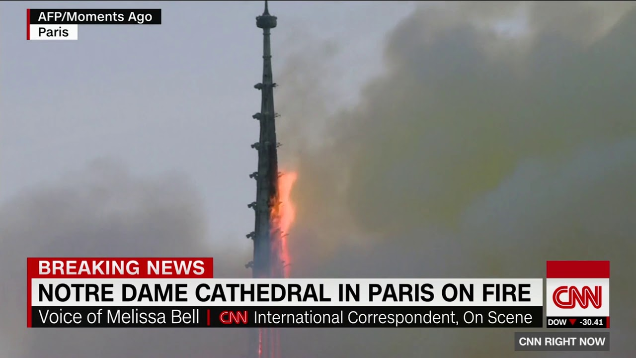[HD] CNN : Notre Dame Cathedral in Paris on Fire 4/15/2019 12:07 PM PDT